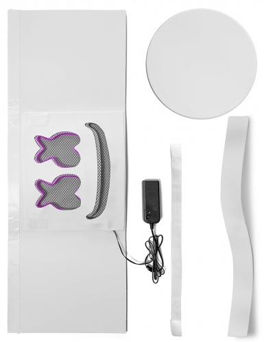 Maschera da Marshmellow led viola per adulto-1