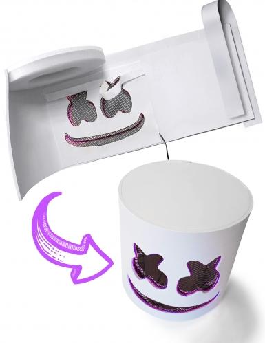 Maschera da Marshmellow led viola per adulto-2