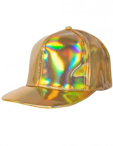 Cappello dorato iridescente adulto-1