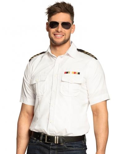 Camicia del capitano bianca per uomo