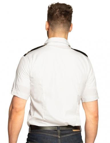 Camicia del capitano bianca per uomo -1