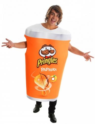 Costume tubo di Pringles™ alla paprika per adulto