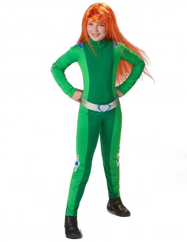 Costume da spia verde per bambina-1