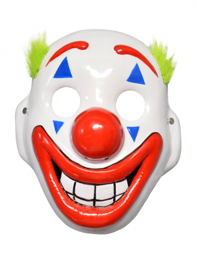 Maschera da clown psicopatico con LED per adulto-1