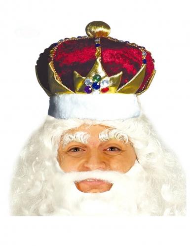 Corona re rosso e oro adulto