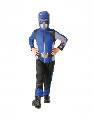 Costume da power rangers blu per bambino-2