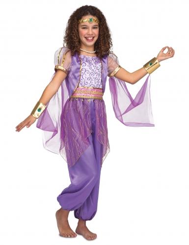 Costume da principessa orientale viola bambina