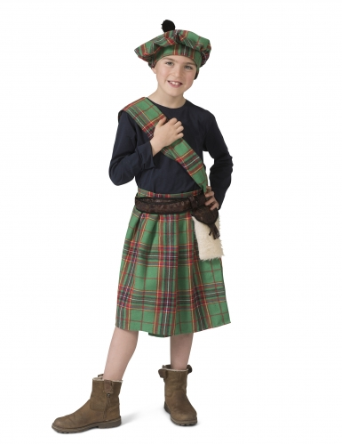 Costume verde da scozzese per bambino