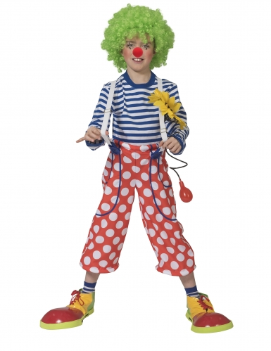 Costume da clown con bretelle per bambino
