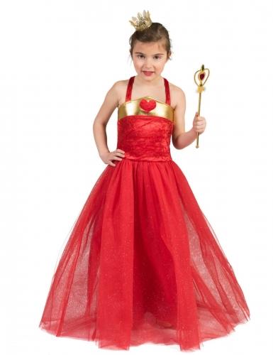 Costume da principessa dei cuori per bambina