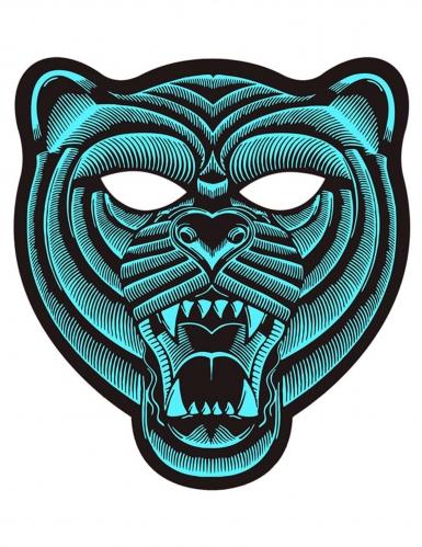 Maschera LED da tigre per adulto