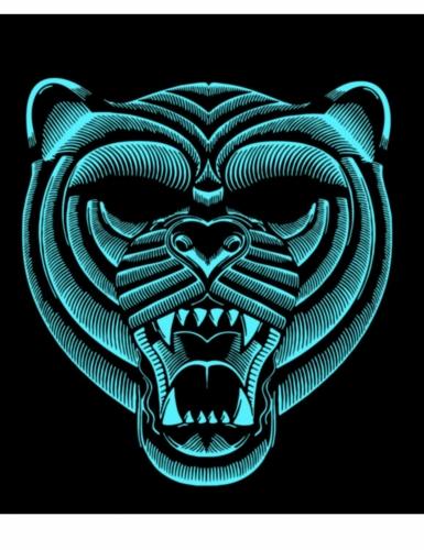 Maschera LED da tigre per adulto-1