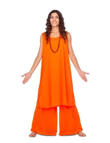 Costume da buddista arancione per donna