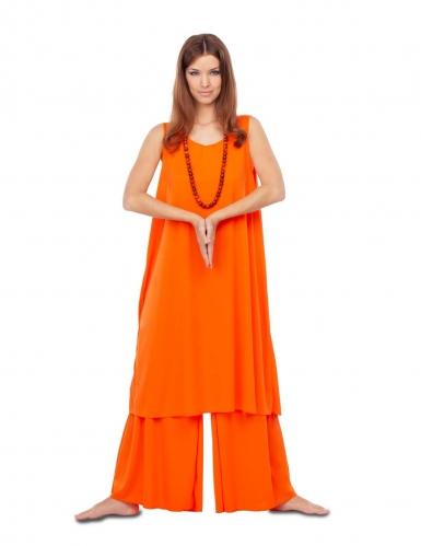 Costume da buddista arancione per donna-1