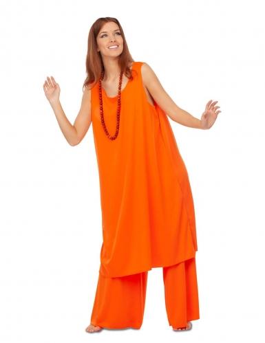 Costume da buddista arancione per donna-2