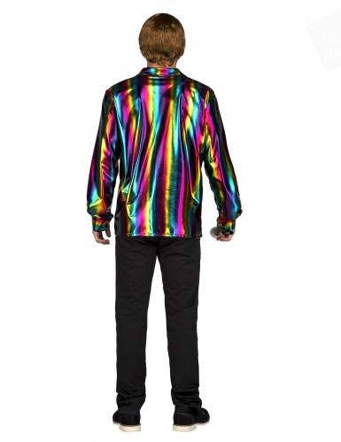 Camicia disco arcobaleno per uomo-1