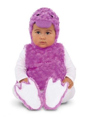 Costume piccola papera di peluche viola
