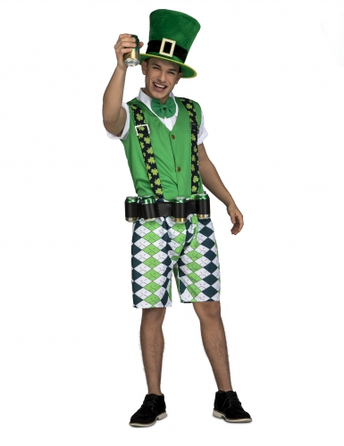 Costume da Irlandese con cintura porta birra adulto
