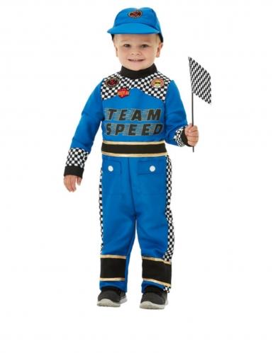 Costume da neonato pilota di colore blu