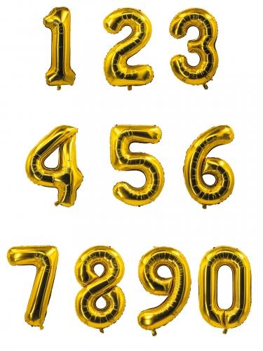 Palloncino alluminio dorato a numero 85 cm-1