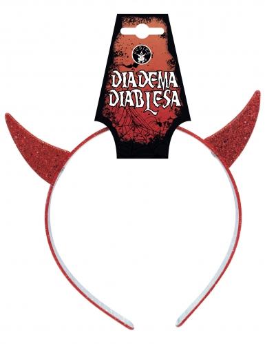 Cerchietto diavolessa rosso bambina-1
