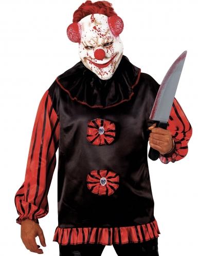 Maschera clown insanguinato psicopatico adulto