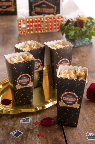 8 Scatole da popcorn in cartone Hollywood-1
