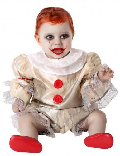 Costume clown spaventoso bebè