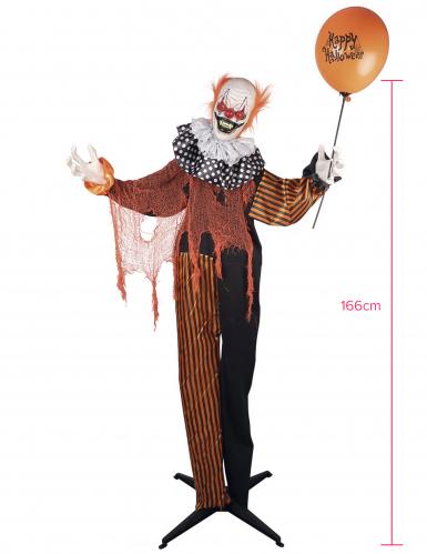 Decorazione animata e sonora clown terrificante 90 cm-1
