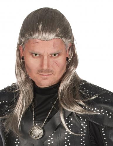 Parrucca stregone assassino grigio adulto
