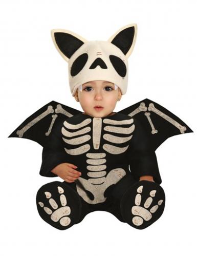 Costume scheletro pipistrello bebè