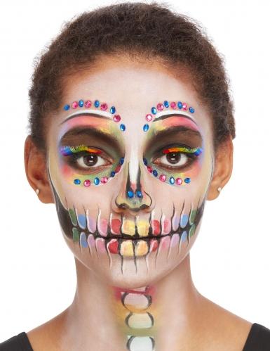 Kit trucco scheletro multicolore per donna-3