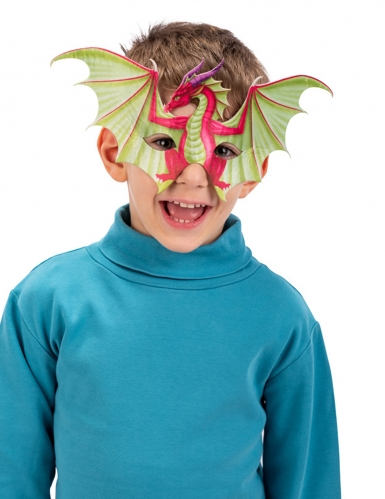 Mezza maschera drago bambino