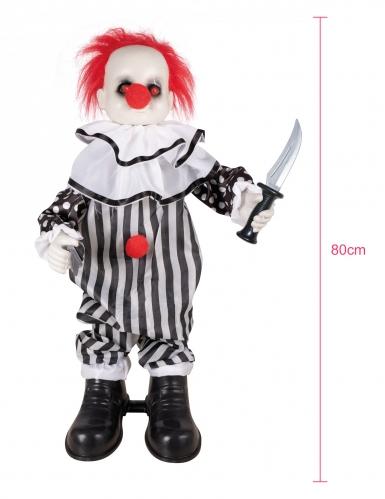Decorazione animata e sonora clown pazzo 80 cm-1