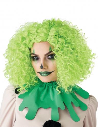 Parrucca clown verde adulto