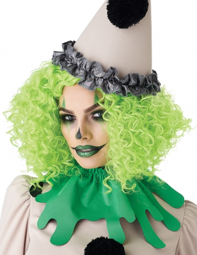 Parrucca clown verde adulto-3