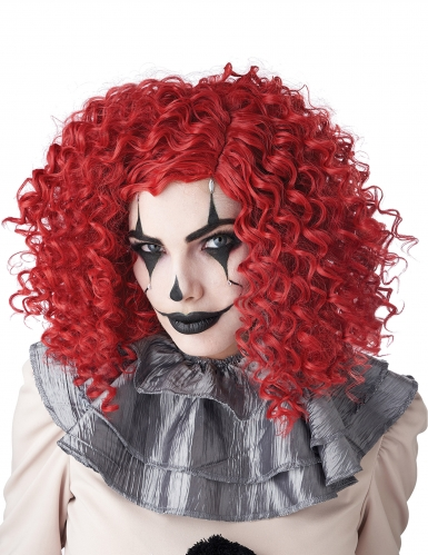 Parrucca clown rossa adulto