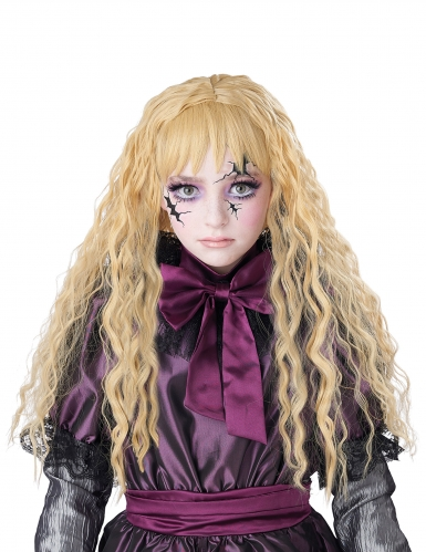 Parrucca lunga ondulata bionda bambina-1