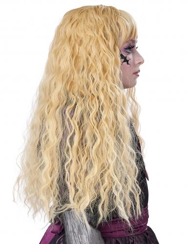 Parrucca lunga ondulata bionda bambina-3