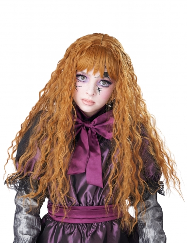 Parrucca lunga ondulata rossa bambina-1