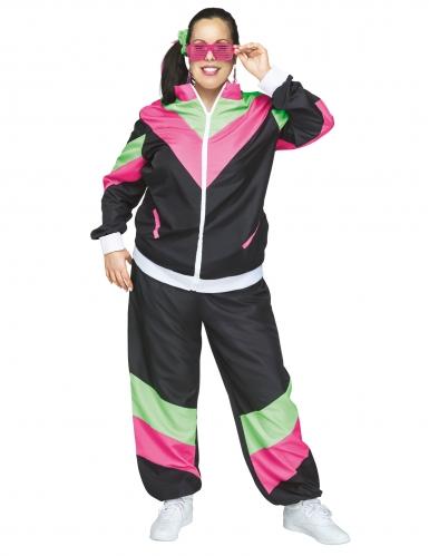 Costume tuta ginnica anni 80 per donna: Costumi adulti,e ...