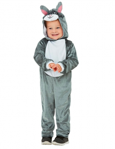 Costume coniglio grigio bebè