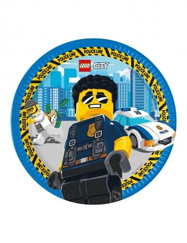8 Piatti in cartone FSC® Lego City™ 23 cm