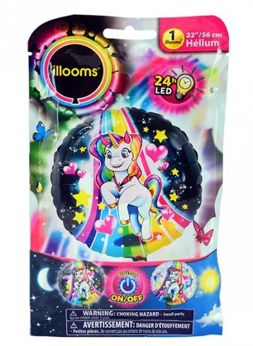 Palloncino alluminio unicorno Led Illoms™ 50 cm
