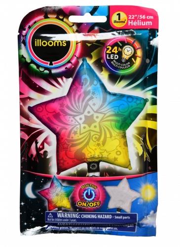 Palloncino stella multicolore Led Illoms™ 50 cm