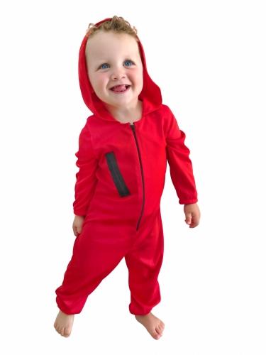 Costume da rapinatore rosso bebè-1