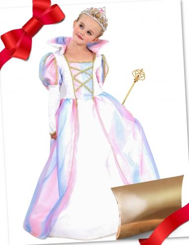 Cofanetto regalo travestimento e accessori da principessa rosa