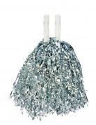 Pompon argento metallico