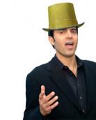 Cappello a cilindro dorato adulti
