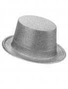 Cappello a cilindro argentato adulti